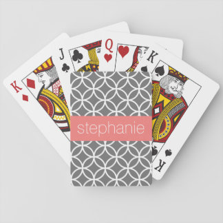 Grauer und weißer geometrischer spielkarten
