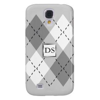 Grauer, weißer Kasten der Rauten-iPhone3 Galaxy S4 Hülle