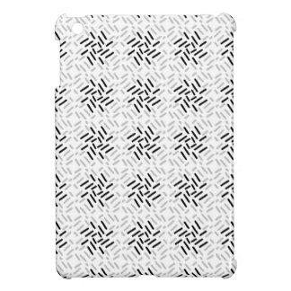 Grauer, weißer u. schwarzer geometrischer Entwurf iPad Mini Hülle