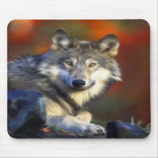 Grauer Wolf, Arten-Digitalfotografie Mauspads