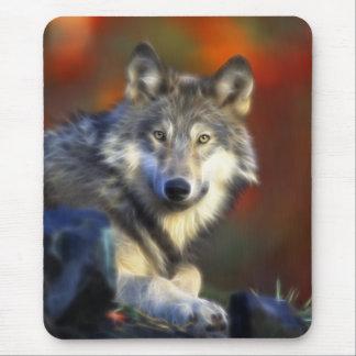 Grauer Wolf Arten-Digitalfotografie Mauspads