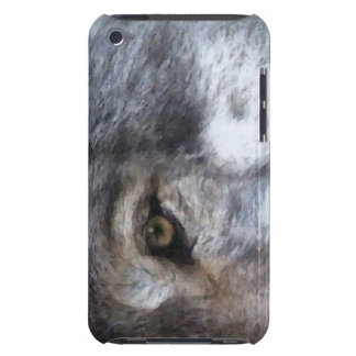Grauer Wolf-Auge Tier-Anhänger IPod-Touch-Fall iPod Case-Mate Hülle
