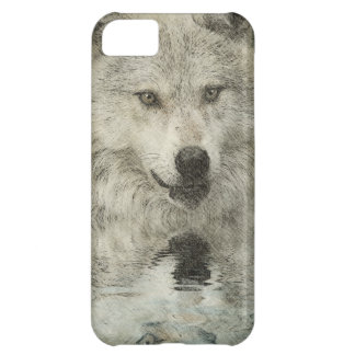 Grauer Wolf-Bleistift-Skizze-Tier-Kunst-Geschenk iPhone 5C Hülle