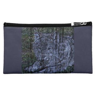 Grauer Wolf der wilden Tarnungswaldwild lebenden Cosmetic Bag