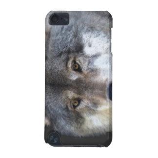 Grauer Wolf-Gesichts-Tier-Tierliebhaber-IPod-Kaste iPod Touch 5G Hülle