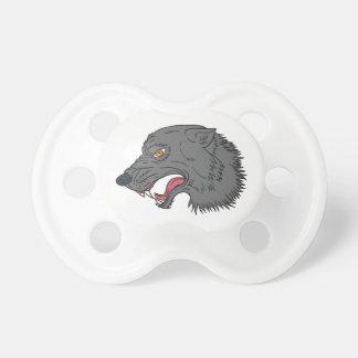 Grauer Wolf-Hauptknurrenzeichnen Schnuller