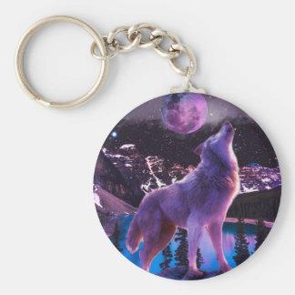 Grauer Wolf - howlin Wolf - moon Wolf Schlüsselanhänger