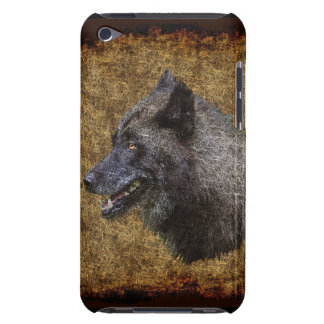 Grauer Wolf-Kopf-Tier-Kunst-Telefon-Kasten Case-Mate iPod Touch Case
