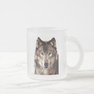 Grauer Wolf Mattglastasse