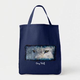 GRAUER WOLF MUSTERT Tier-Einkaufstüte Tragetasche