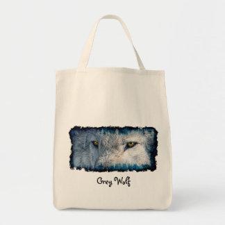 Grauer Wolf mustert Tier-Taschen-Tasche Tragetasche