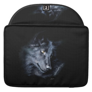 Grauer Wolf-Porträt-Tier-MacBook-Hülse Sleeve Für MacBook Pro