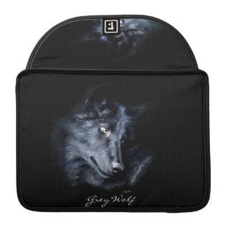 Grauer Wolf-Porträt-Tier-MacBook-Hülse Sleeve Für MacBooks