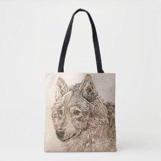 Grauer Wolf-Taschen-Tasche Tasche