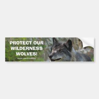 Grauer Wolf-Tier-Erhaltungs-Autoaufkleber