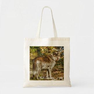Grauer Wolf-u. Foto-Geschenk der Wildnis-2 Tragetasche