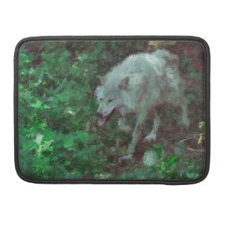 Grauer Wolf-u. Waldtier-MacBook-Hülse Sleeve Für MacBooks