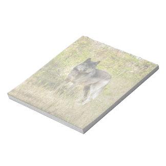Grauer Wolf-u. Wildnis-Foto-Geschenk Notizblock