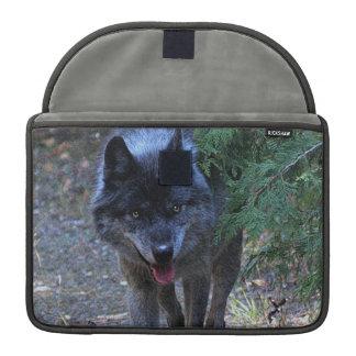 Grauer Wolf Wildife MacBook Fall Sleeve Für MacBook Pro
