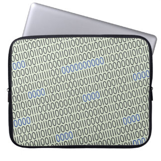 Graues Blau der Binärzahlen Laptopschutzhülle
