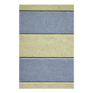 Graues Blau und TAN-Gelb Individuelles Büropapier