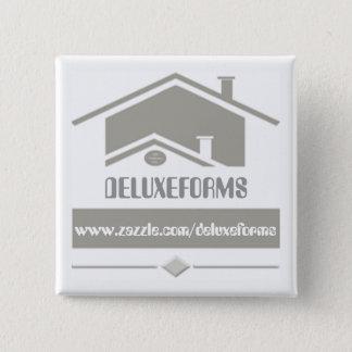 Graues Dach Quadratischer Button 5,1 Cm