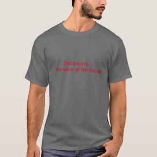 Graues der Nerd-Shirt der Männer T-Shirt