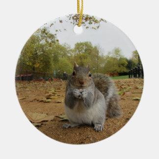 Graues Eichhörnchen Hyde Park. Keramik Ornament