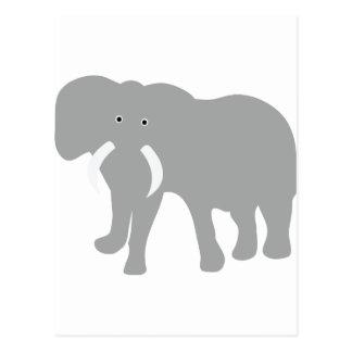 graues Elefant-Comic Postkarte