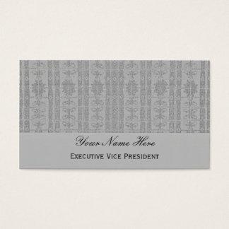 Graues elegantes Muster Visitenkarte