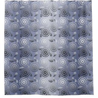 graues ethnisches Muster Paisleys Duschvorhang