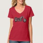 Graues Fatboy Motorrad - Fameland Grafik-T - Hemd