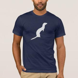 Graues Frettchen mit Punkten T-Shirt