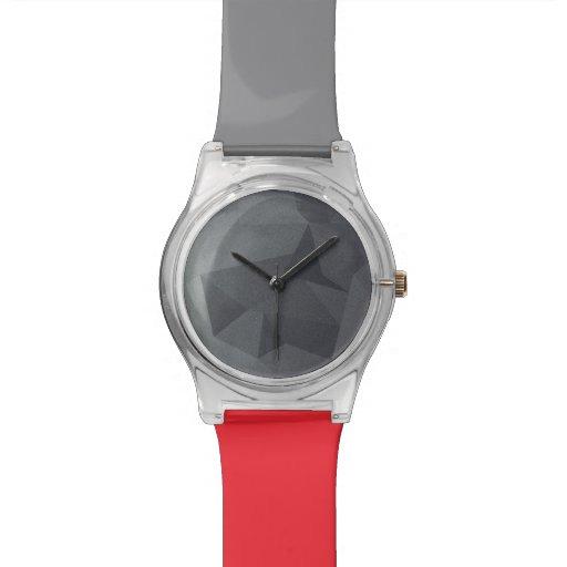 Graues geometrisches Polygon kundenspezifische Armbanduhr