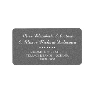 Graues gotisches viktorianisches adressaufkleber