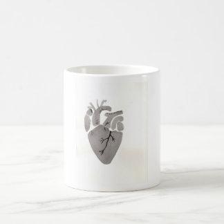 Graues Herz Kaffeetasse