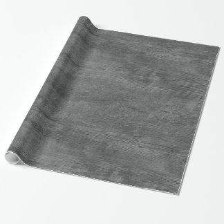 graues hölzernes Muster-Packpapier Geschenkpapier