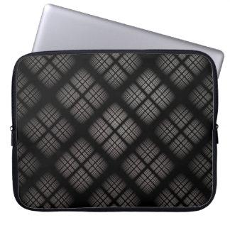 Graues kariertes laptopschutzhülle