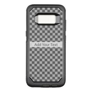 Graues Kombinations-Schachbrett durch Shirley OtterBox Commuter Samsung Galaxy S8 Hülle