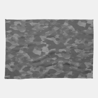 Graues Küchenleinen Tarnung Handtuch