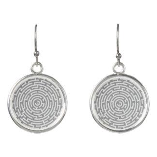 Graues Labyrinth Ohrringe
