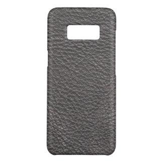 Graues ledernes Druck-Beschaffenheits-Muster Case-Mate Samsung Galaxy S8 Hülle