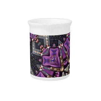 Graues lila Fraktal steampunk Kaleidoskop Krug