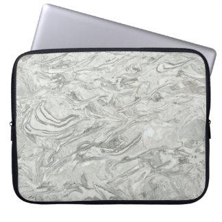 Graues Marmoroberflächenmuster Laptop Sleeve
