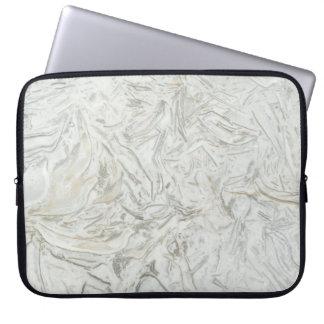 Graues Marmoroberflächenmuster Laptopschutzhülle