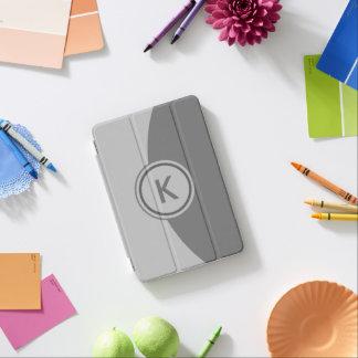 Graues Monogramm iPad Mini Hülle