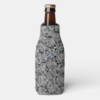 Graues Mosaikmuster Flaschenkühler