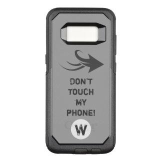 Graues Pfeilmonogramm OtterBox Commuter Samsung Galaxy S8 Hülle