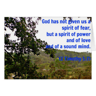 Graues Pferdinspirierend Timothy-Bibel-Vers-Gott Karte