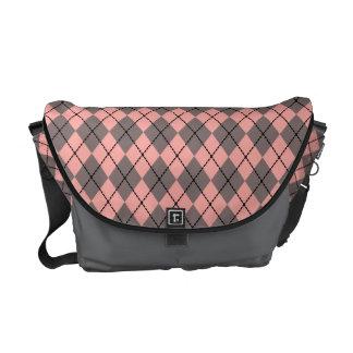 Graues rosa Rauten-Bote-Windel-Taschen-Geschenk Kuriertasche